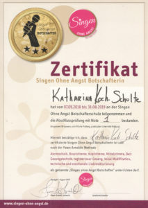 Singen ohne Angst Zertifikat